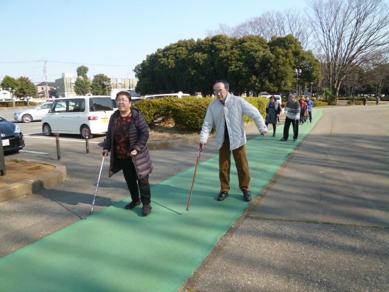 歩行練習 タイムトライアル!